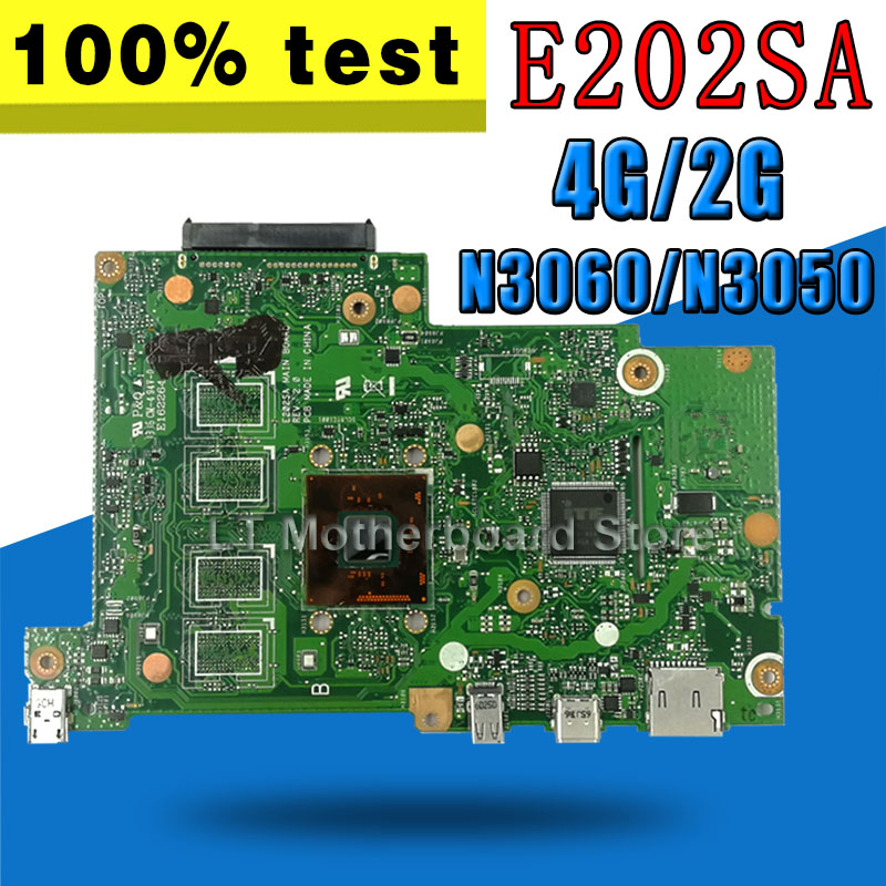 N3050/N3060-CPU 2GB/4GB-RAM E202SA mainboard For ASUS E202S E202SA laptop motherboard Tested Working for asus ux31e laptop motherboard with i5 2557m 2 3ghz cpu 4gb ram on board memory maiboard fully tested working well