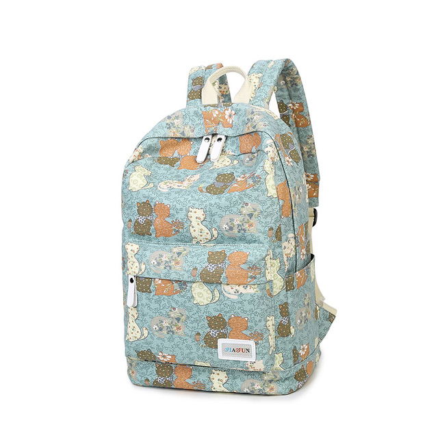 Winner Brand Unique Printing Backpack Women Floral Bookbags Canvas Backpack  Schoolbag for Girls Rucksack Casual c555556059