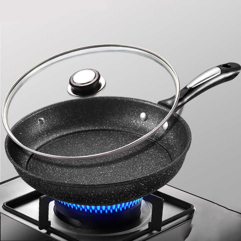 Pan non-stick Pan bez dymu patelnia małe Wok kuchenka indukcyjna uniwersalny kuchni garnek do gotowania Non stick Pan kuchnia garnki naczynia do gotowania patelnie