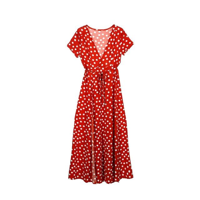 c1ddc7fc51c4 Aliexpress.com   Buy Women s Orange Polka Dot Dress Cocktail Party ...
