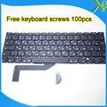 "Brand New RU Russian keyboard+100pcs keyboard screws For MacBook Pro Retina 15.4"" A1398 2013-2015 Years"
