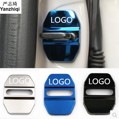 4pcs/lot stainless steel car door lock buckle cover for Mercedes benz AMG A E W213 C W204 W205 W212 CLA GLA GLC GLE GLS
