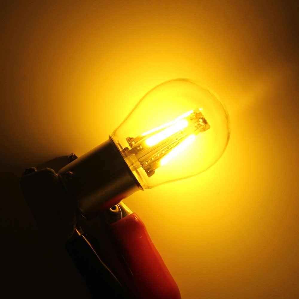1 Chiếc 1156 P21W BA15S 1157 BAY15D COB LED Dây Tóc Chip Phanh Xe Đèn Tự Động Đảo Chiều Bóng Đèn Đỗ Xe Đèn 12V Trắng Đỏ Vàng