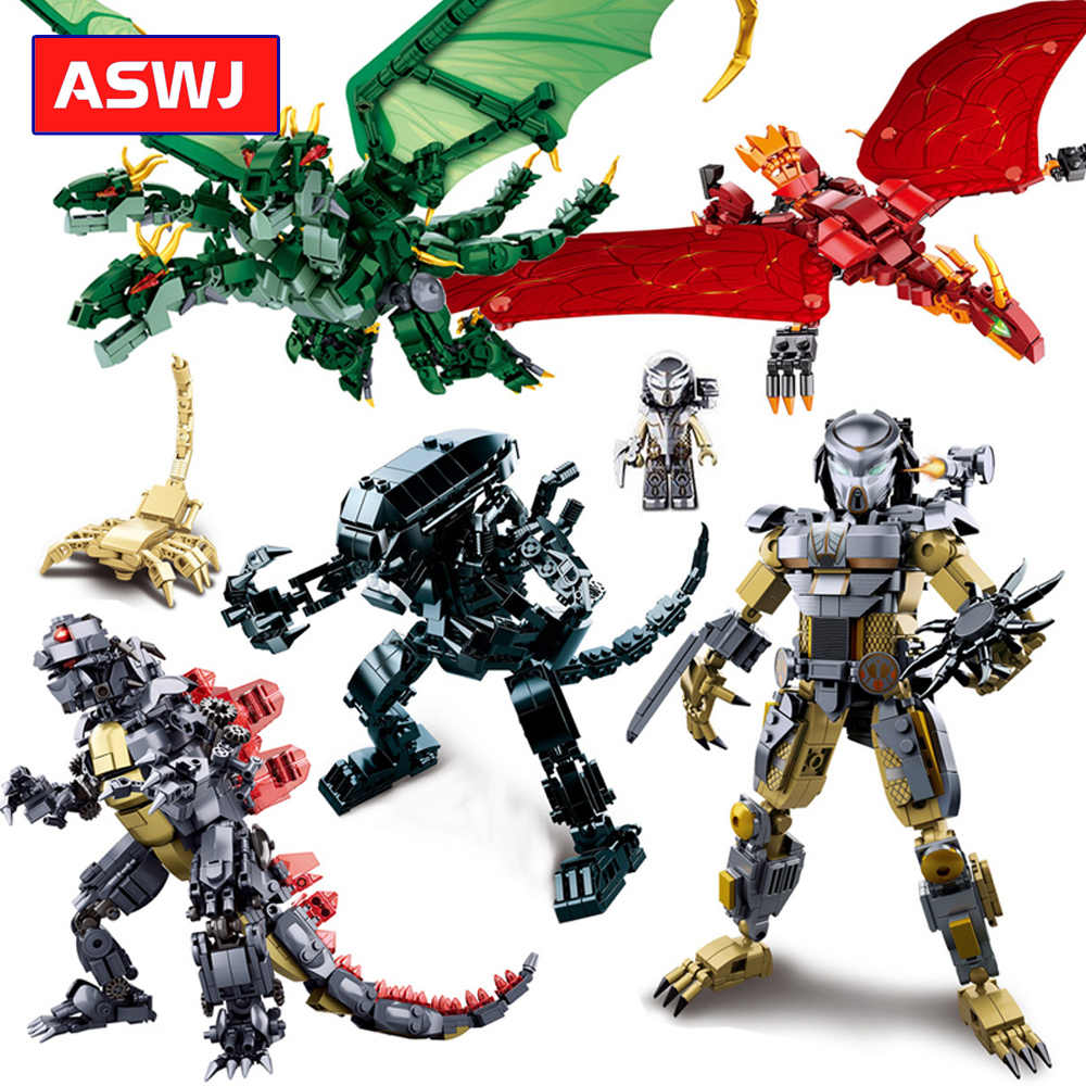 Rey de los monstruos modelo bloques de construcción Compatible legos ladrillos juguetes educativos amigos para niños juguetes regalos