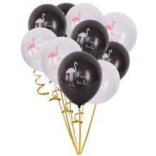 Party Decoration Children Favors Bird Latex Balloons 10pcs/lot Black/White Balloons Wedding Supplies Pink Cartoon Animal(China)