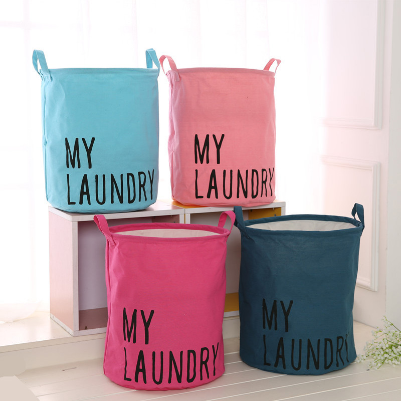 Image 4 - Colorful Organizer Cotton Linen Waterproof Home Storage Bag Fabric Hamper Debris Box Laundry Storage Basket 2019 Hot Sale-in Foldable Storage Bags from Home & Garden