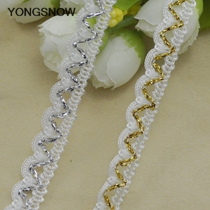 Image 5 - 5m Gold Silver Lace Trim Ribbon Curve Lace Fabric Sewing Centipede Braided Lace Wedding Craft DIY Clothes Accessories Xmas Decor