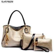 famous designer luxury brands women bag set good quality medium women handbag set 2016 3pcs/set new women shoulder bag #Z8903
