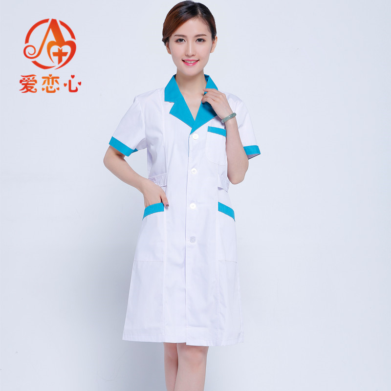 A-lab coat cotton medical nurse clothing spa uniform  women uniform suit for dental clinic Cosmetologist health officer