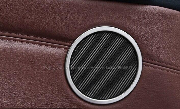 Porte en acier stéréo haut-parleur rond anneau couvercle garniture 4 pièces pour BMW x4 f26 2014 2015/X3 f25 2011-2015