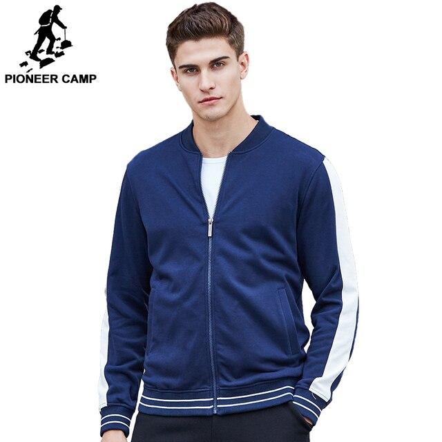 777e87cfcce Pioneer Camp 2017 Новое постуление Мужская спортивная куртка Веснняя  толстовка мужчина футболка повседневная куртка высококачественый материаль