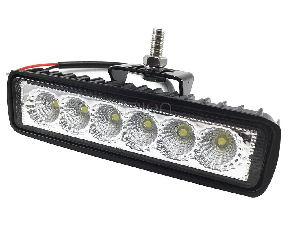 Автомобильный 18 Вт светодиодный прожектор, рабочий светильник ATV, светильник для бездорожья, противотуманный светильник для вождения, бар для 4x4 внедорожника, внедорожника, автомобиля, грузовика, прицепа, трактора UTV