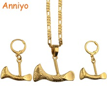 Anniyo SMALL Ax Pendant Necklaces and Earrings for Women,Papua New Guinea Axe Jewelry PNG National Style #085806