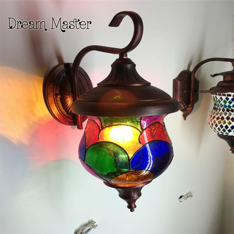 bohemia lmpara de la tienda de caf mediterrneo marruecos vidrieras retro iluminacin de