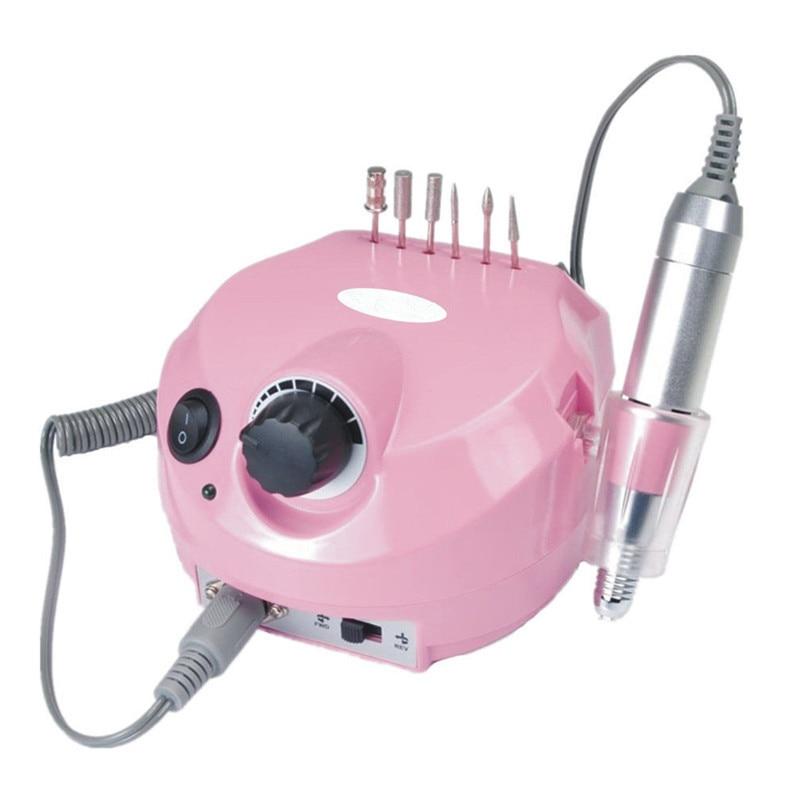 Профессиональная электрическая дрель для маникюра и педикюра, 35000 об/мин, электрическая пилка с резцом для ногтей, Полировальный Инструмент