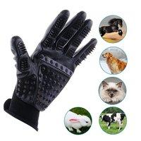 Gentle Rubber Links & Rechterhand Pet Grooming Handschoenen Huisdier Haar Remover Vergieten Baden Massage Borstel Schoon Kam Voor Hond Paard Kat