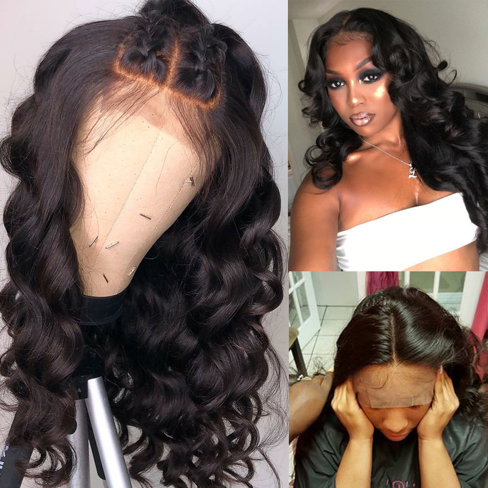 Sapphire 4 4 Lace Frontal Wig PrePlucked With Baby Hair Brazilian Body Wave Wig Lace Front