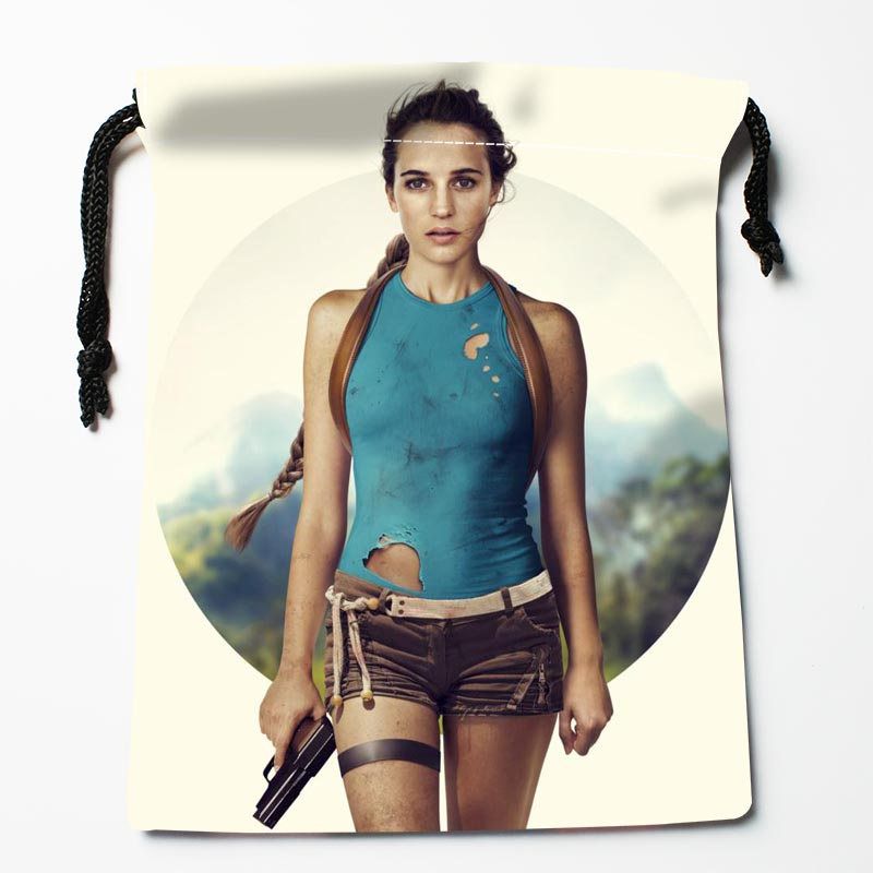 New Arrive Alicia Vikander Drawstring Bags Custom Storage Bags Storage Printed Gift Bags More Size 27x35cm DIY Your Picture