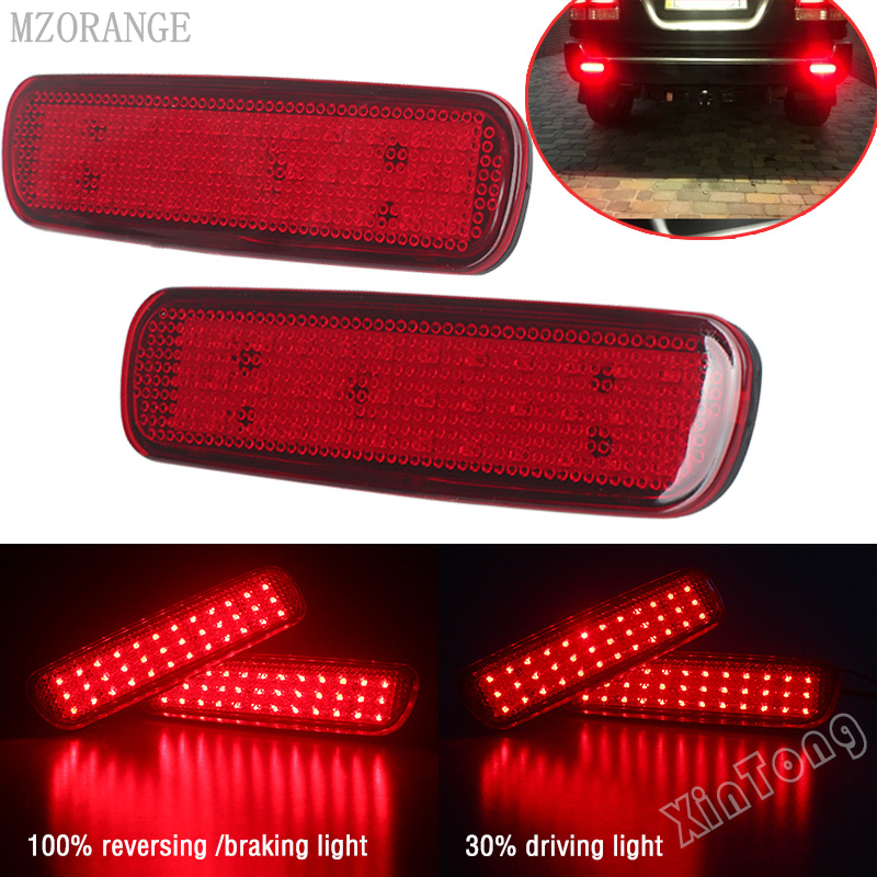 Car LED Rear Bumper Reflector Light For Toyota Land Cruiser 100/Cygnus LX470 LED Parking Warning Stop Brake Lamp Tail Lantern
