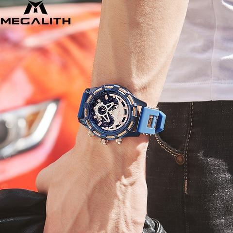 MEGALITH Men Watches Top Brand Luxury Luminous Display Waterproof Watches Sport Chronograph Quartz Wrist Watch Relogio Masculino Multan