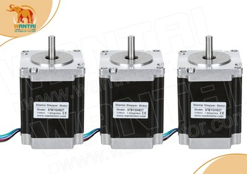цена на 3 PCS, 2 phase, 4-Leads 20Kgcm 1.8Degre 78mm CNC NEMA 23 Stepper Motor of Wantai, 3D Printer