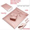 Impermeable funda Para Portátil 11.6 12.1 13.3 15.6 pulgadas Portátil bolsa de cuero envelope bag caso de la cubierta para macbook air pro 13 15 sy002