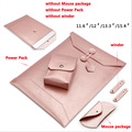 waterproof Notebook sleeve  11.6 12.1 13.3 15.6 inch Laptop bag leather Envelope bag cover for macbook air pro 13 15 case SY002