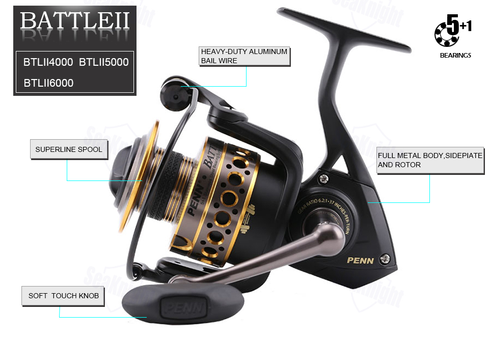PENN Battle II 2500-8000 Spinning Reel