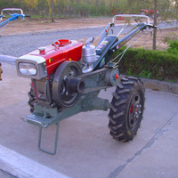 Walking Tractor 15HP Agricultural Transport Machinery Diesel Oil Tractor Farm Implements Auxiliary Machine