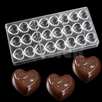 bakeware tools heart shape chocolate Polycarbonate mould ,Valentine 's Day Chocolate form, baking wedding cake candy making mold