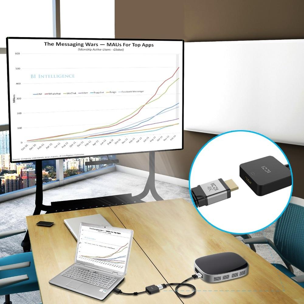 ICZI DisplayPort to HDMI Active Adapter Converter HDMI 2.0 Support 4K 60Hz
