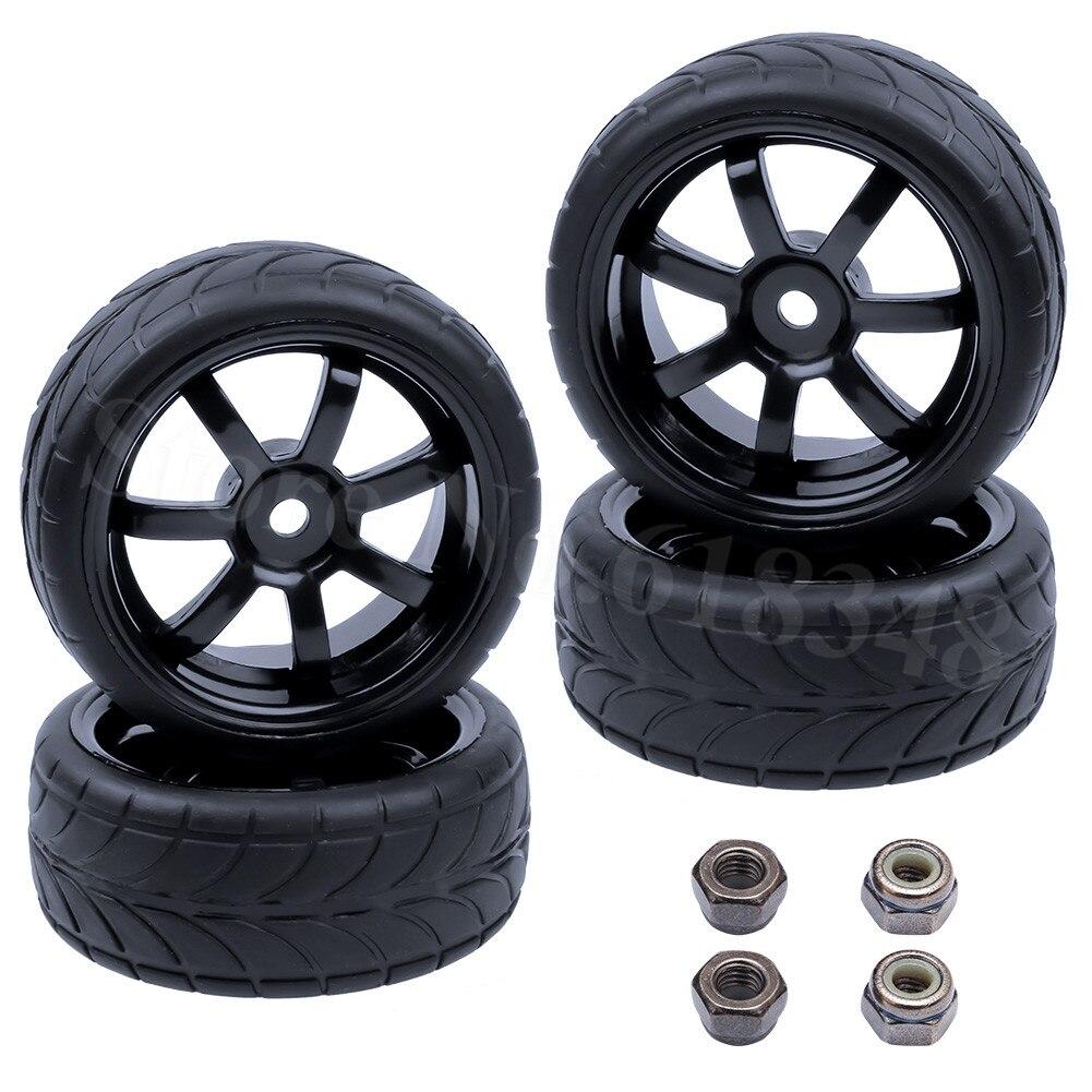 4 Unids / lote RC Neumáticos Ruedas 26mm Hexagonal 12mm Con Nylon - Juguetes con control remoto - foto 6