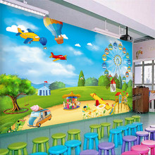 Custom Photo Wallpaper 3D Cartoon Playground Children Room Bedroom Wall Decoration Wall Mural Wallpaper For Kids Room Modern free shipping children s room wall painting 3d cartoon theme hotel room wallpaper boy bedroom cartoon wallpaper mural