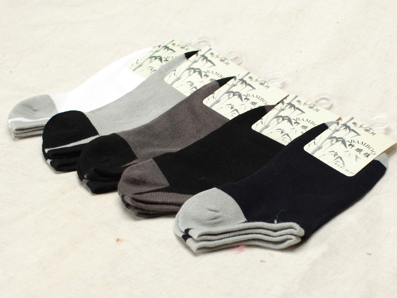 10 pieces = 5 pairs of Spring, summer, pure bamboo fiber pure color male ankle socks,men socks