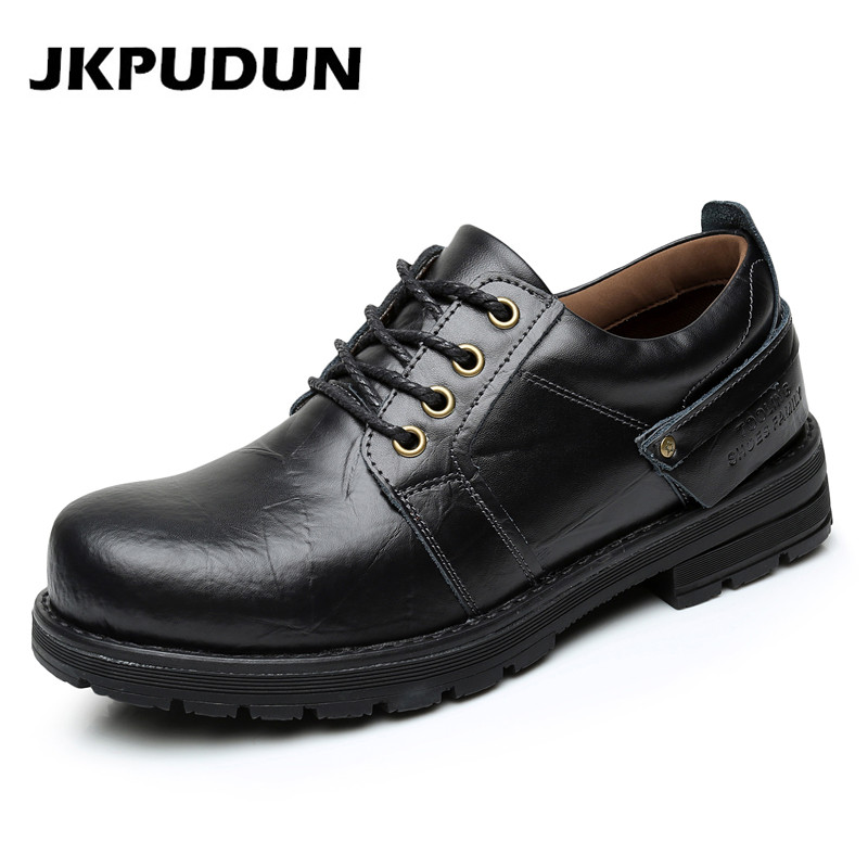 jkpudun mens casual shoes outdoor genuine leather luxury