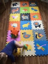 18 pieces Baby Play Mats pattern Child mat carpet puzzle Crawling Mat Baby Crawling Rug Mat Children Rug Kids Toys chicken dog(China)