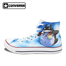 Men Women Converse All Star Custom Anime Shoes Howl s Moving Castle Totoro Design Hand Painted