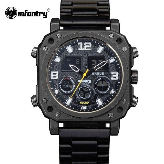 ea90cd8d788 INFANTARIA Militar Assista Men Digital LED relógio de Pulso Mens Relógios  Marca Top Esporte Tático Preto
