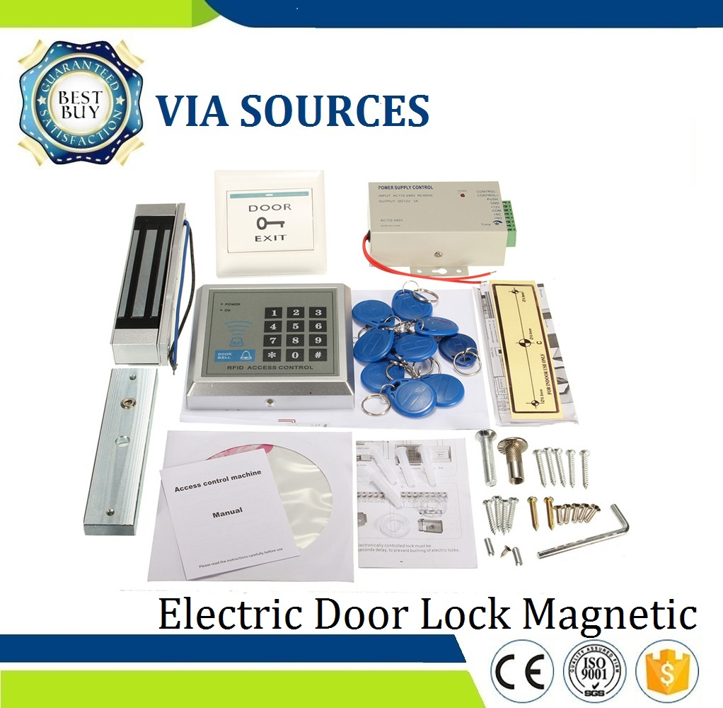 Free Shipping  Electric Door Lock Magnetic RFID Access Control ID Password Safty Entry System KitFree Shipping  Electric Door Lock Magnetic RFID Access Control ID Password Safty Entry System Kit