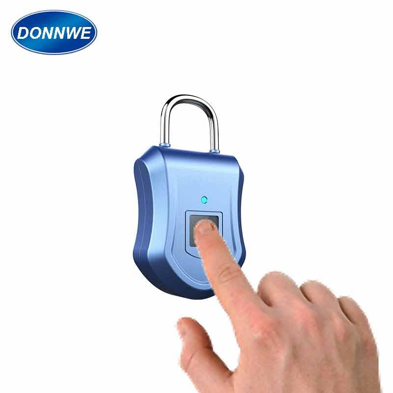 fingerprint padlock  locker  biometric fingerprint recognition locker