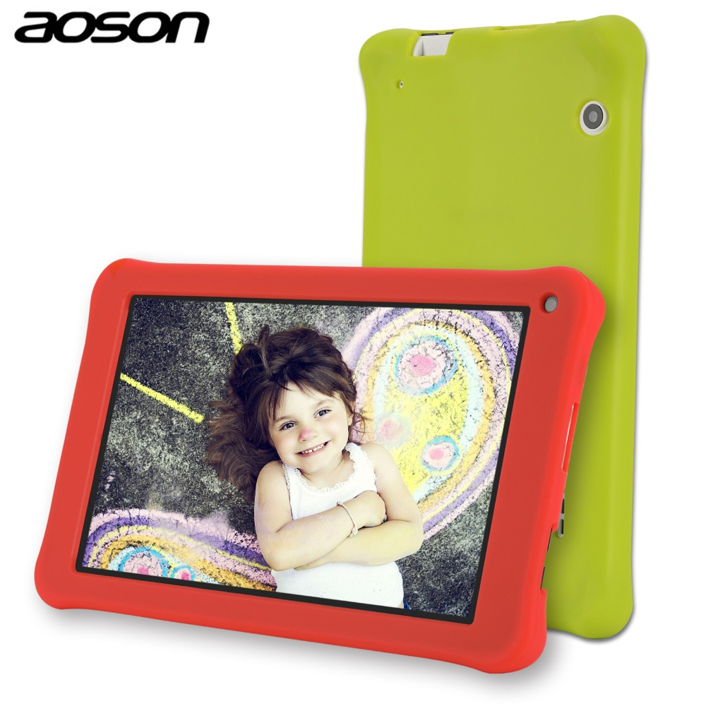 все цены на AOSON M753 kids Tablet PC 7 Inch Android 7.1 Marshmallow 16GB Quad core 1024*600 Birthday Gift Games Baby PAD