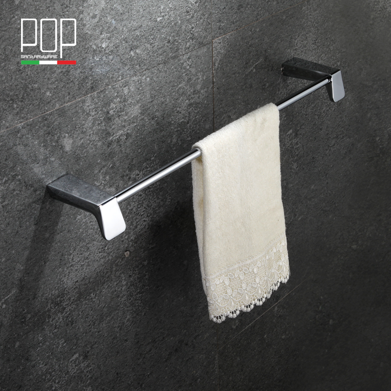 POP Brand Silver simple single Towel Bar Holder chrome Finished Bathroom font b Accessories b font