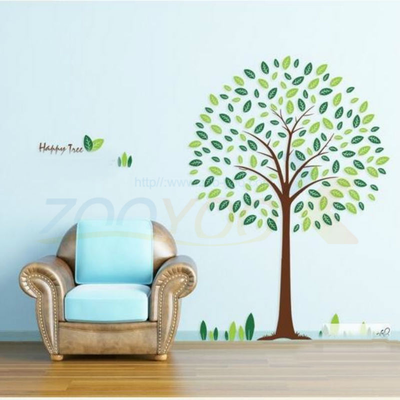 Nature Green Tree Wall Sticker Decal Kids Room Living Room Bedroom Home Decor Vinyl 3d