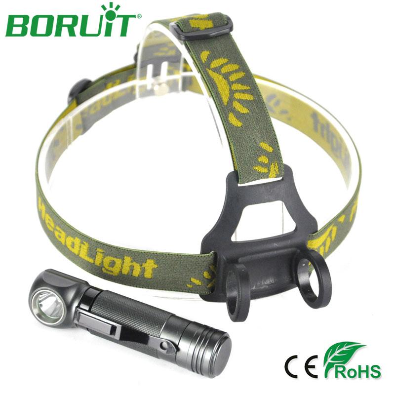 BORUiT XPL V5 LED Headlamp 1000lm White 3-Mode Headlights Aluminum Waterproof Camping Hunting Head Lamp Torch Lantern Light