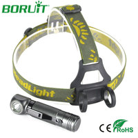 Boruit 1000lm XPL V5 LED Headlamp Aluminum Waterproof Headlight Torch Lights 3 Modes LED Flashlight For