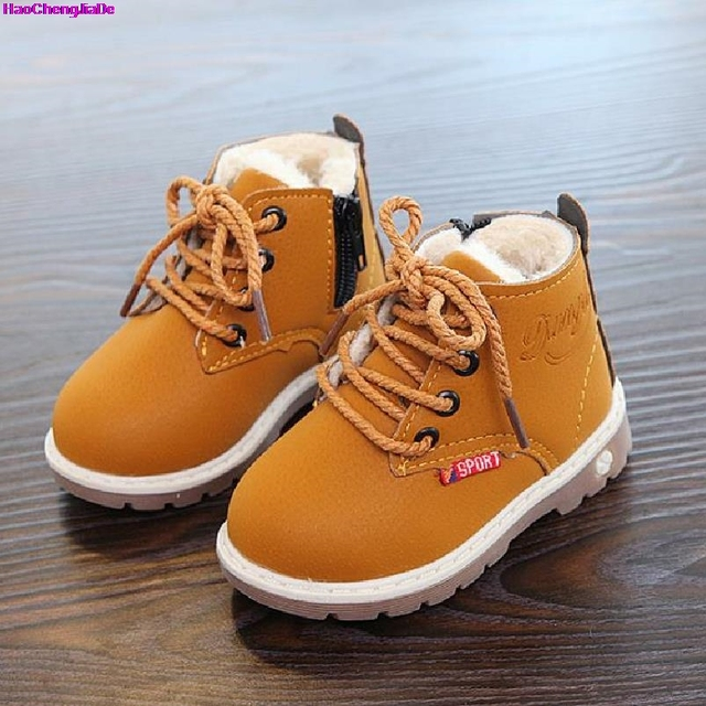 HaoChengJiaDe 2018 New Winter For Child Kid Girl Boy Snow Boots Comfort Thick Antislip Short Boots Fashion Cotton-padded Shoes 1