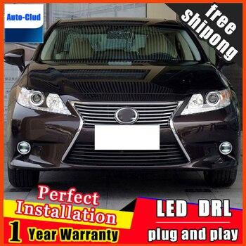 Car styling LED fog light for Lexus GS 2012,2014 LED Fog lamp with lens and LED daytime running ligh for car 2 function