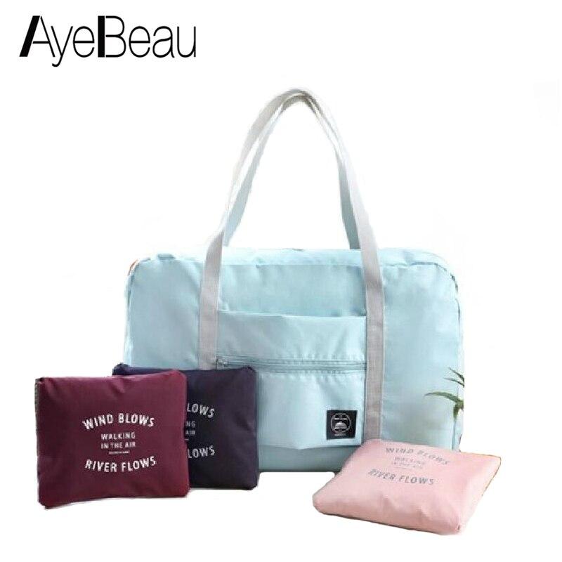 Big For Overnight Voyage Weekend Duffel Hand Luggage Duffle Nylon Foldable Women Travel Bag Female Large Capacity Cabin Handbag