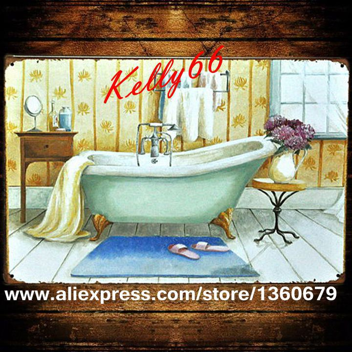 Kelly66   20 30 CM Size The bathroom Metal. Online Get Cheap Bathroom Plaques  Aliexpress com   Alibaba Group