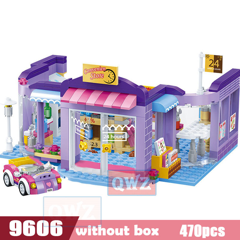 Legoes город девушка друзья большой сад вилла модель строительные блоки кирпич техника Playmobil игрушки для детей Подарки - Цвет: 9606 without box